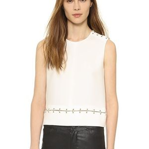The Kooples ring detailed blouse